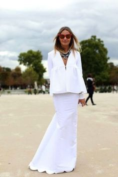 Flattering All White Outfit Ideas for Summer