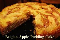 Belgian Apple Pudding Cake - Mom's Kitchen Pantry