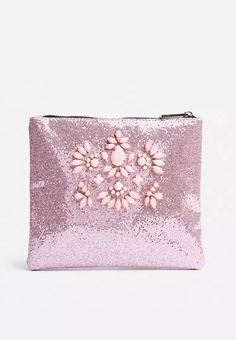 Rose Glitter Clutch