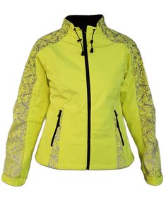 bfa83d5e RUSEEN Reflective Apparel - Women's Reflective Soft Shell Jacket Shells,  Lime, Shelled, Seashells
