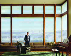 Enjoy the summer sun but guard against it! Most people remember to protect themselves with sunglasses and sunscreen – but forget to protect their interiors. Furniture shouldn't have tan lines. Hunter Douglas window shadings are like SPF for your furniture!