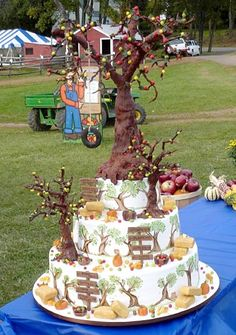 Cake Boss's Apple Orchard Cake. I wouldnt go this elaborate but I like the idea