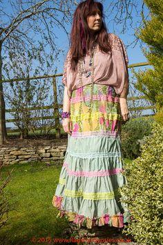 Spring Iris Gypsy Bohemian Shabby Chic Tiered by RagsForGypsies