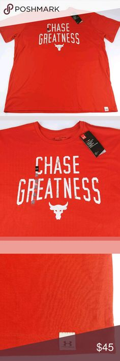 New Under Armour Men/'s x Project Rock Chase Greatness Shirt 1326383-839 XL NWT