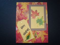Items similar to Fall Themed Birthday Card on Etsy Handmade Greetings, Greeting Cards Handmade, Autumn Theme, Birthday Cards, Fall, Etsy, Autumn, Anniversary Cards, Bday Cards