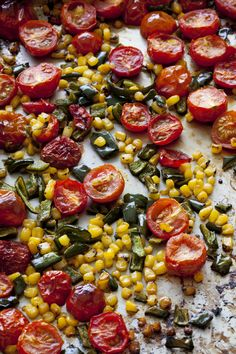 Roasted Pepper, Corn and Tomato Salsa