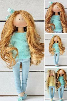 Rag doll Fabric doll Handmade doll Tilda doll by AnnKirillartPlace