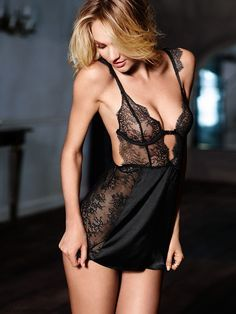 711651165 Unlined Chantilly Lace Babydoll - Very Sexy - Victoria s Secret Candice  Swanepoel