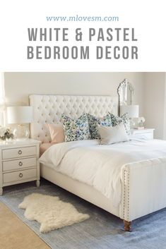 I really like how my bedroom makeover turned out! This white and pastel bedroom is just so peaceful and I love how it turned out. Especially the white bed!