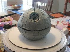 You, Me and B: DIY Star Wars Death Star Birthday Cake