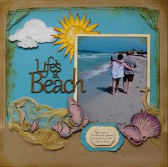 A random posting of scrap related thoughts and tidbits Beach Scrapbook Layouts, Scrapbook Examples, Vacation Scrapbook, Scrapbook Layout Sketches, Scrapbook Paper Crafts, Scrapbooking Layouts, Scrapbook Cards, Scrapbooks, Card Making