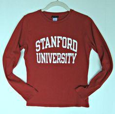 Women Stanford University Cardinals Shirt Top S 4 6 Long Sleeve Spirit Fan Wear