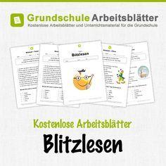 Kostenlose Arbeitsblätter und Unterrichtsmaterial für den Deutsch-Unterricht zum Thema Blitzlesen in der Grundschul