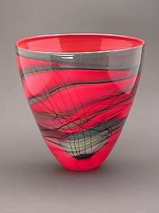 """Kimono Series Bowl""  Art Glass Bowl  Created by Steven Main"