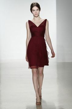 Also a neat bridesmaids' design - I like the softness of the chiffon over-layer. Chiffon G777C