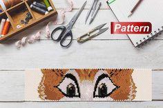 Fox pattern to bead peyote stitch patterns beaded fox patterns delica bead patterns eyes beading pat