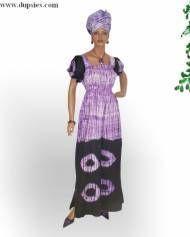 2pc Tie Dye Sun Dress in African Clothing