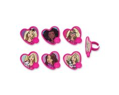 Barbie Sweet Sparkles Rings Cupcake Toppers, 12 pcs