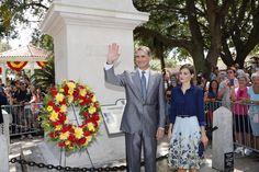 Los Reyes, en el Monumento a la Constitución Española de 1812 Casa de Gobierno. San Agustín. Florida, 18.09.2015