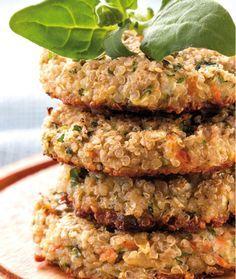 Hambúrguer de quinoa com aveia                                                                                                                                                      Mais