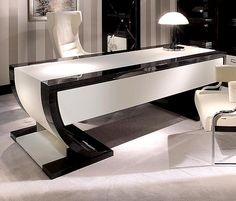 Tables are extremely important furniture in an office setting. An office cannot function without the use of essential furniture like […] Office Cabin Design, Office Space Design, Office Furniture Design, Art Deco Furniture, Office Interior Design, Office Interiors, Office Designs, Design Studio, Deco Design