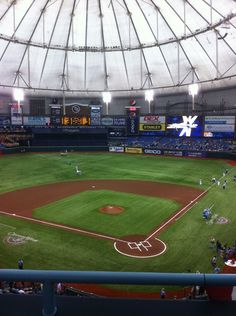 Rays Baseball Game at Tropicana Field in Saint Petersburg, FL