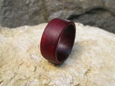 Padauk ring mens wood ring band ring size 10 by MadebyMyLeftHand2