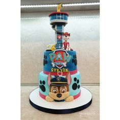 Cake child Torta Paw Patrol, Paw Patrol Party, Paw Patrol Birthday, 1st Birthday Themes, Birthday Cake, Cumple Paw Patrol, Baby Shower Souvenirs, Amazing Cakes, Cake Decorating