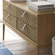 Everyone loves extra storage! Whether it be at the entryway or living room, choosing a console with large drawers makes organizing the little things simple. Diy Drawers, Large Drawers, Chest Of Drawers, Storage Chest, Wood Creations, Diy Cabinets, Teak Wood, Extra Storage, Mudroom