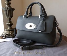 Mulberry Del Rey (Small) in Pavement Grey Silky Classic Calf Leather > http://www.npnbags.co.uk/naughtipidginsnestshop/prod_3756380-Mulberry-Del-Rey-Small-in-Pavement-Grey-Silky-Classic-Calf-Leather-New.html