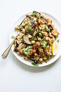 Spiced Eggplant, Chicken And Chickpea Salad ... 7 Perfect Salads For An Entire Week Of Healthy Eating