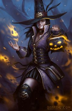 Happy Halloween Witch by BobKehl.deviantart.com on @DeviantArt