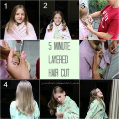 My easy diy 5 minute layered haircut pinterest kid haircuts diy layered haircut practical stewardship dont do this came out awful for us solutioingenieria Image collections