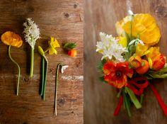 Citrus Wedding Flowers