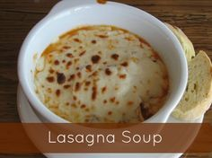 Lasagna Soup ~ It really is like lasagna in the form of a soup! | The Happy Housewife