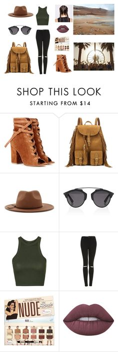 """desert sands look - piaski pustyni"" by sweetlittlebunny on Polyvore featuring moda, Été Swim, Gianvito Rossi, Yves Saint Laurent, Forever 21, Christian Dior, Topshop i Lime Crime"