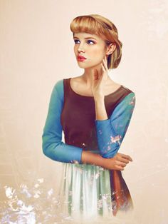 Real Life Cinderella: Graphic design student Jirka Väätäinen used Photoshop to imagine what the Disney princesses would look like if they were real women. Illustration by Jirka Väätäinen