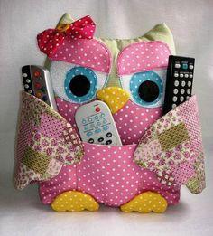 Сова – подушка с кармашками для пультов. Выкройка | Домохозяйка