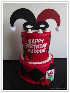 "Harley Quinn cake (Joker's ""girlfriend"")  too cute"