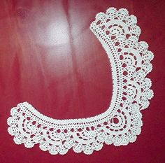 Trendy free vintage crochet collar patterns free crochet pattern - lace collar from the womens accessories DTQMBZU - Crochet and Knit Crochet Collar Pattern, Col Crochet, Crochet Lace Collar, Thread Crochet, Irish Crochet, Crochet Motif, Free Crochet, Diy Lace Collar, Knit Lace
