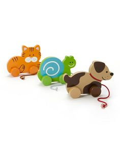 This Animal Pull Toy Set is perfect! #zulilyfinds