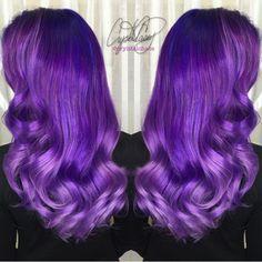 Purple Dreams A beautiful purple melting of Joico shades by @cryistalchaos Beautiful color art Crystal! Purple hair cokor Long Purple hair hotonbeauty.com