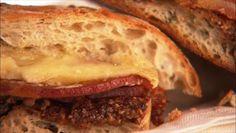 Giada De Laurentiis - Breakfast panini with pancetta brie Giada Recipes, Brunch Recipes, Breakfast Recipes, Cooking Recipes, Breakfast Panini, Breakfast Time, Morning Food, Sunday Brunch, Food Network Recipes