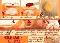 Honey and Sugar Home Remedy to Get Rid of Unwanted Facial Hair(Diy Face Wax) Top 10 Home Remedies, Natural Remedies, Acne Remedies, Natural Treatments, Unwanted Hair, Unwanted Facial, Home Made Wax, Homemade Sugar Wax, Face Wax