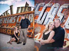ENGAGEMENT PHOTOS/ Neon Boneyard, Neon Museum Las Vegas, couple's photos
