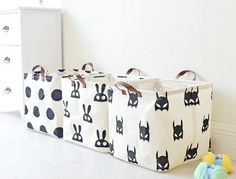 waterproof cotton linen fabric storage baskets