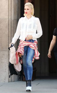 Gwen Stefani from Ruffles You'll Feel Confident in  Ruffles and '80s prom dressesused to go hand in hand, but those days are over. Literally and figuratively.Just look at Gwen Stefani's cool top! There's absolutely more where that came from—just keep clicking.