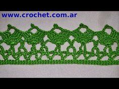 Puntilla N° 52 en tejido crochet tutorial paso a paso. - YouTube