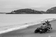 Deception Island, West Point, Deception Pass State Park, Washington, 2015   Click the picture above for information on purchasing a fine art photography wall print. #blackandwhite #seascape #whidbeyisland