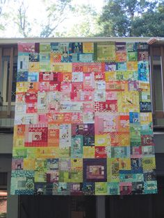 """Mrs. Roy G. Biv"" quilt by Carolina Patchworks."